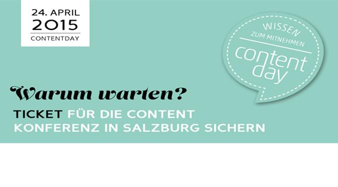 Wissen zum mitnehmen – 24.04 ContentDay in Salzburg