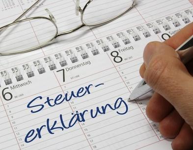 Kalender Steuererklärung