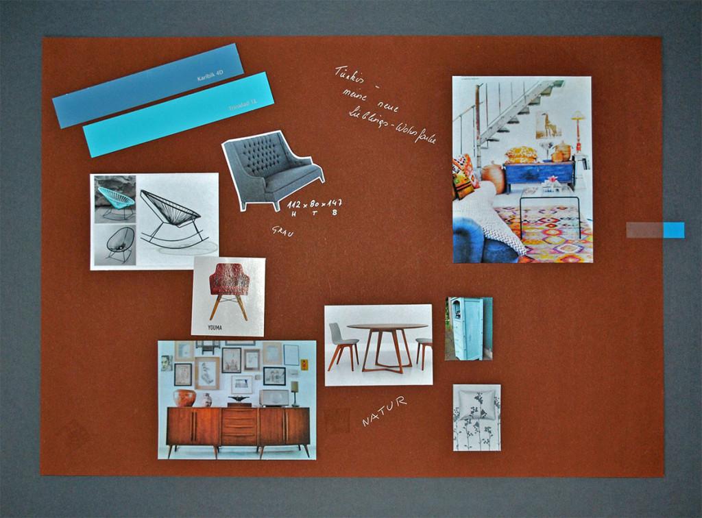 Stilboard für ein neues Design