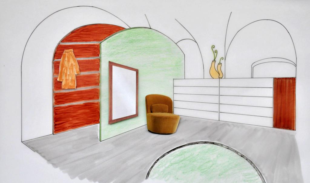 Skizze einer Garderobe - Design von Tina