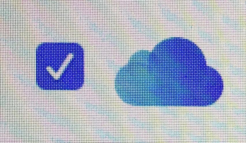 Screenshot des Cloud Symbols von Apple