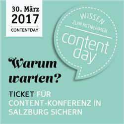 Der ContentDay 2017 findet wieder statt! Doch muss ich da hin?