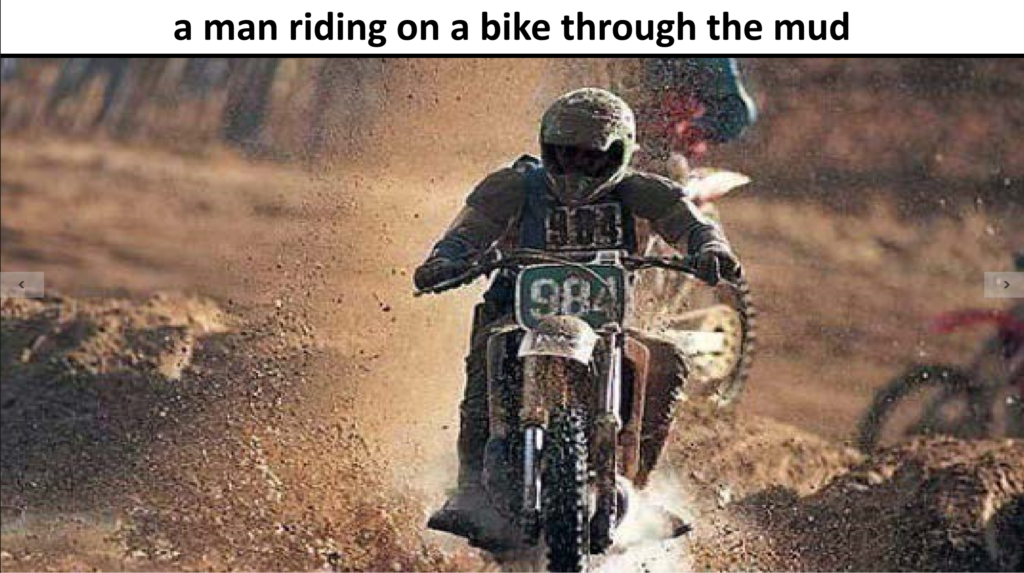 Man riding through mud