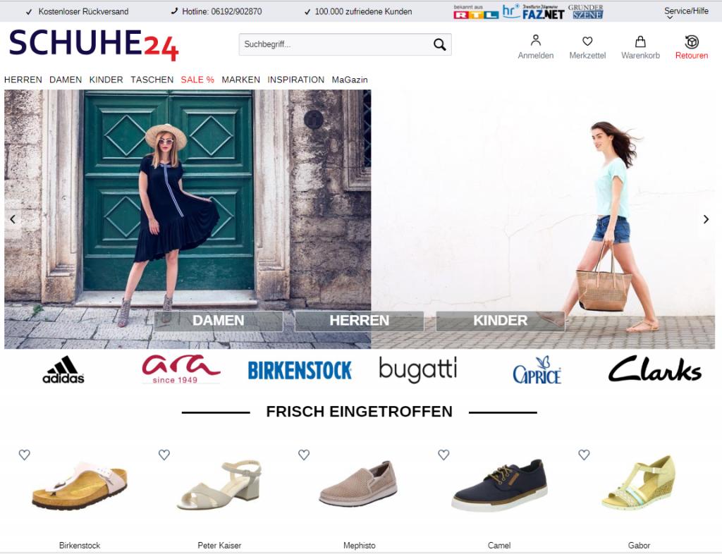 Homepage schuhe 24